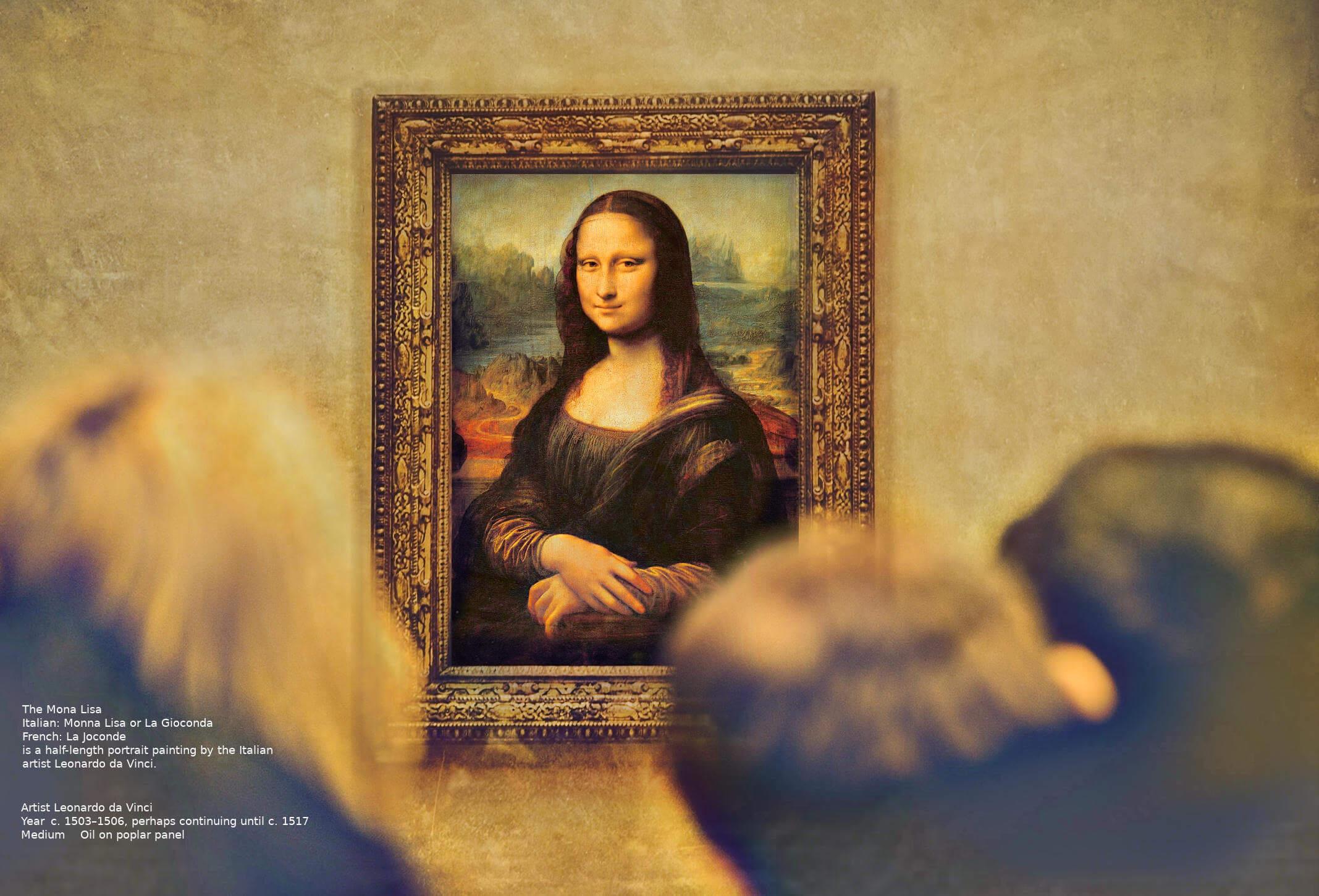 Moon Lisa - La Gioconda - Leonardo Da Vinci